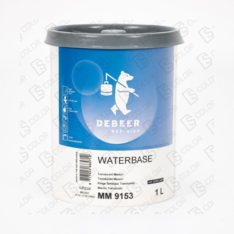 DS Color-WATERBASE SERIE 900-DE BEER MM9153  1L translucent maroon