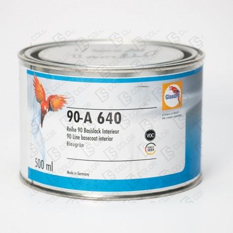 DS Color-OUTLET GLASURIT-GLASURIT 90-A 640 VERDE AZULADO 0.5LT //OUTLET