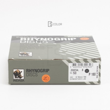 DS Color-INDASA-INDASA RHYNOGRIP WHITE LINE D150 15A P180 (50u.)