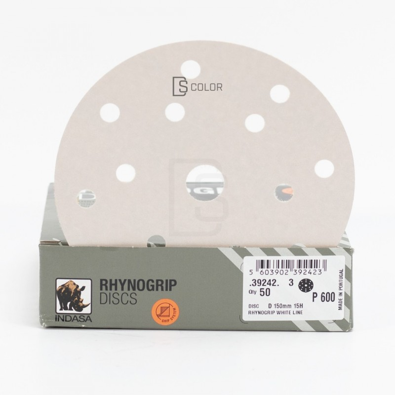 DS Color-INDASA-INDASA RHYNOGRIP WHITE LINE D150 15A P600 (50u.)
