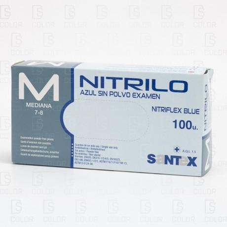 GUANTES NITRILO AZULES TALLA M 100 UNIDADES