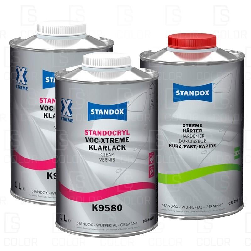 DS Color-STANDOX BARNICES-KIT STANDOX BARNIZ VOC XTREME K9580 Y CATALIZADOR FAST
