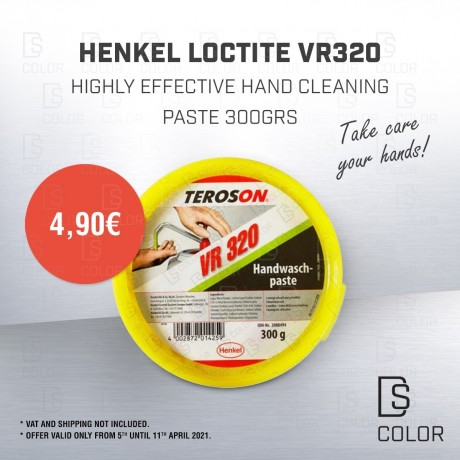 DS Color-HENKEL-HENKEL LOCTITE VR320 PASTA LAVAMANOS 300GRS