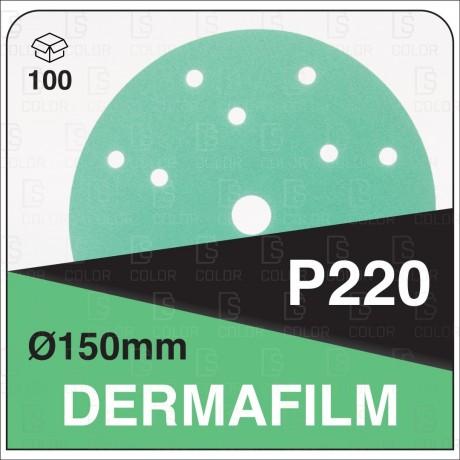 DERMAUTOLOGY ABRASIVO DERMAFILM P220 150mm 15AG (100u)