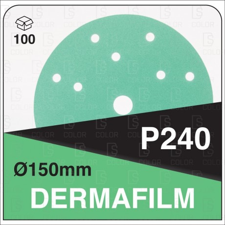 DERMAUTOLOGY ABRASIVO DERMAFILM P240 150mm 15AG (100u)