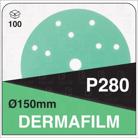 DERMAUTOLOGY ABRASIVO DERMAFILM P280 150mm 15AG (100u)
