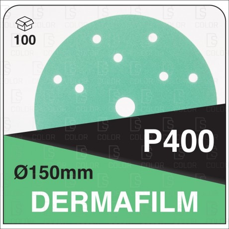 DERMAUTOLOGY ABRASIVO DERMAFILM P400 150mm 15AG (100u)