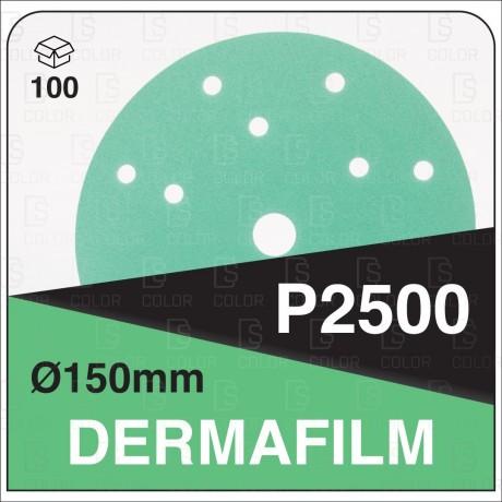 DERMAUTOLOGY ABRASIVO DERMAFILM P2500 150mm 15AG (100u)