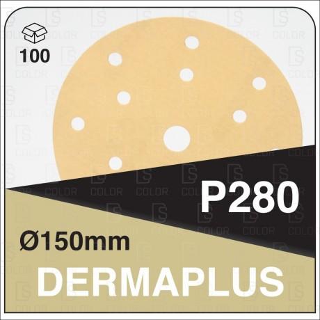 DS Color-DERMAPLUS ABRASIVOS-DERMAUTOLOGY ABRASIVO DERMAPLUS P280 150mm 15AG (100u)