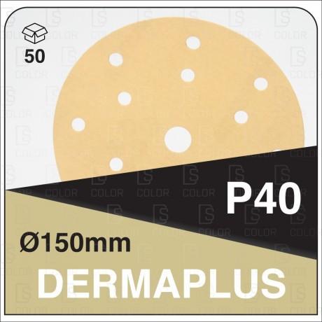 DS Color-DERMAPLUS ABRASIVOS-DERMAUTOLOGY ABRASIVO DERMAPLUS P40 150mm 15AG (50u)