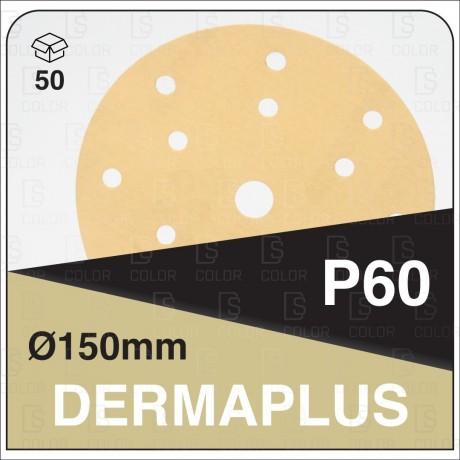 DS Color-DERMAPLUS ABRASIVOS-DERMAUTOLOGY ABRASIVO DERMAPLUS P60 150mm 15AG (50u)