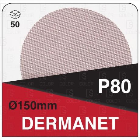 DS Color-DERMANET ABRASIVOS-DERMAUTOLOGY ABRASIVO DERMANET P80 150mm (50u)