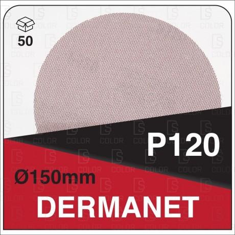 DS Color-DERMANET ABRASIVOS-DERMAUTOLOGY ABRASIVO DERMANET P120 150mm (50u)