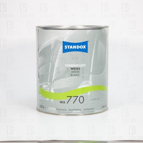 DS Color-STANDOX-STANDOFLEET MIX770 WHITE 3,5LT