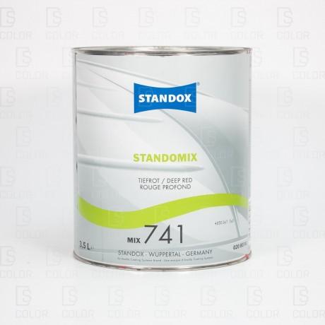DS Color-STANDOX-STANDOFLEET MIX741 DEEP RED 3,5LT