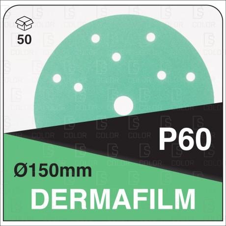 DS Color-DERMAFILM ABRASIVOS-DERMAUTOLOGY ABRASIVO DERMAFILM P60 150mm 15AG (50u)