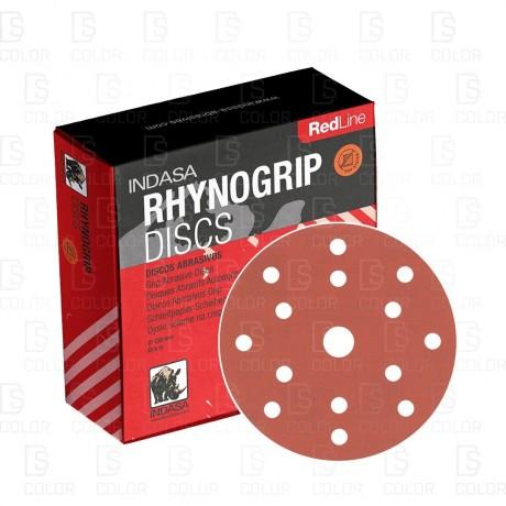 DS Color-DISCOS ABRASIVO-INDASA RHYNOGRIP RED LINE D75 P120 (50u.)