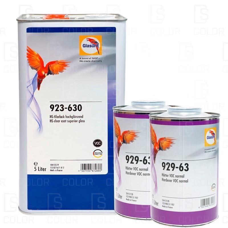 DS Color-GLASURIT BARNICES-KIT GLASURIT BARNIZ 923-630 5L ALTO BRILLO+CATAL 929-631Lx2