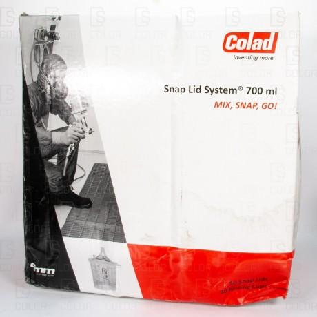 COLAD SNAP LID SYSTEM (50u) 90mic BL/BARNIZ 700ML//OUTLET