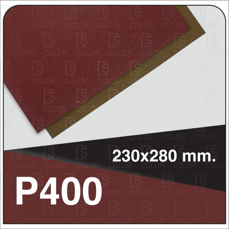 DS Color-INDASA-INDASA RHYNOWET LIJA AGUA HOJA 230x280 P400 unidad