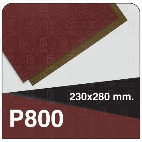 INDASA RHYNOWET RED LINE HOJA 230x280 P800 unidad