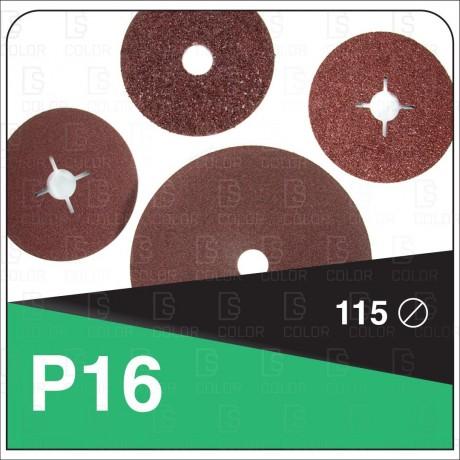 DS Color-LIJADO PARA PARTICULARES-DISCO FIBRA DE CARBONO D115 P16//OUTLET