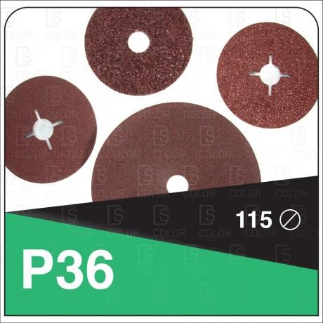 INDASA RHYNOFIBRE DISCO DE FIBRA 115 P36 unidad