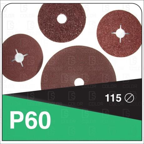 DS Color-INDASA-INDASA RHYNOFIBRE DISCO DE FIBRA 115 P60 unidad
