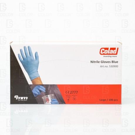 DS Color-COLAD PROTECCIÓN E HIGIENE-COLAD GUANTES NITRILO AZUL L (100UD)