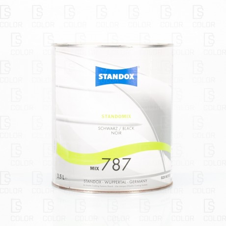 DS Color-STANDOX-STANDOFLEET MIX787 BLACK 3,5LT